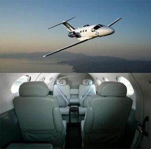 Light private jet
