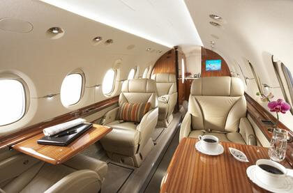 Hawker 900xp Cabin