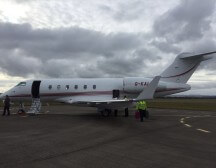 Empty leg on a private jet