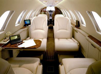 Citation Jet 2 Manchester to Cannes interior