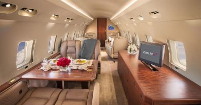 Global express rear cabin
