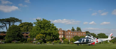 Helicopter Charter The Grove Hotel and Golf Resort