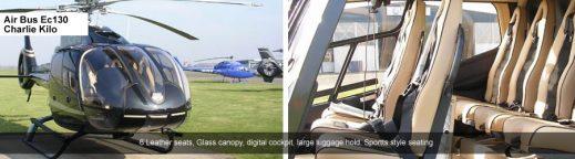 EC130 Helicopter to Cheltenham for 6 passenegrs
