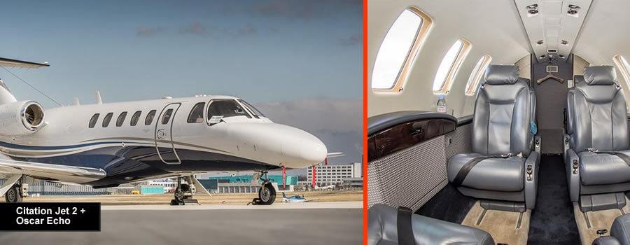 Cessna Citation Jet 2+ for up to 8 passengers