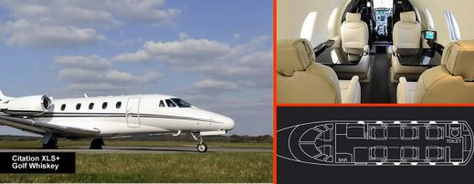 Charter 9 seat citation xls+
