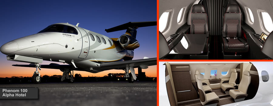 4 Seat Phenom 100 private jet