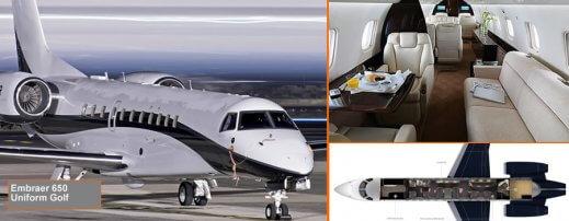 Embraer 650 heavy jet Luton