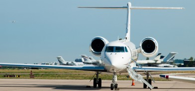 Private Jet Hire, private jet sitting on the runway waiting for passengers