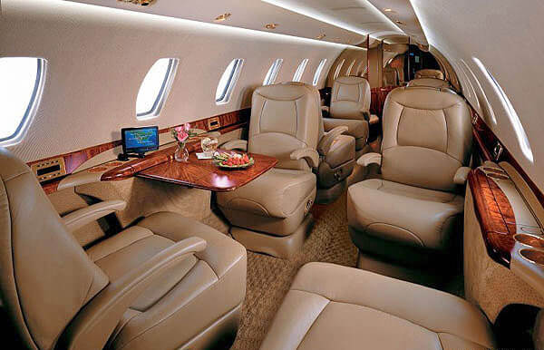 Empty leg private jet
