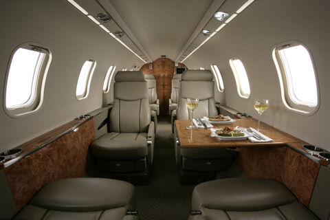 Learjet 45 cabina