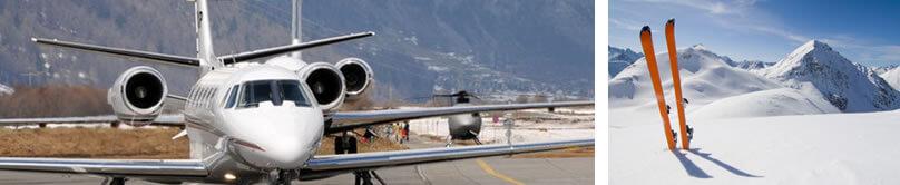 Jet privado Vuelos de invierno