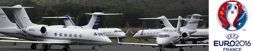 Private jets to Euro 2016 France 1