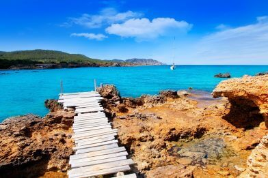 Private Jet charter to Ibiza for perfect beaches
