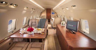 Global express rear cabin