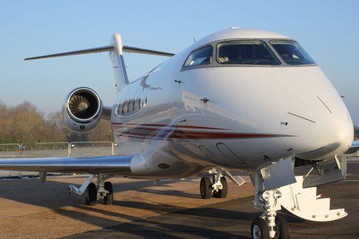 Private jet flight routes
