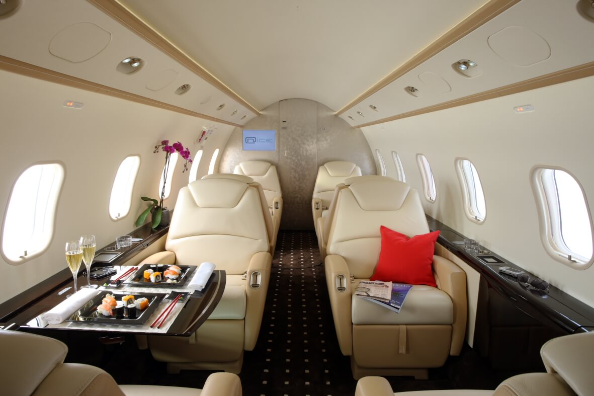 Private jet food