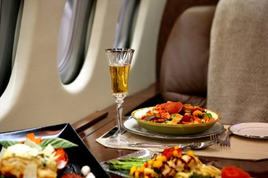 Private jet charter catering