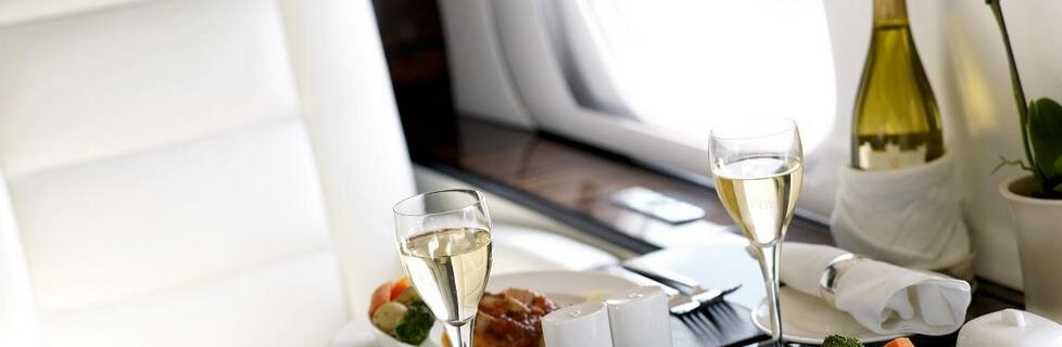 Fine dining on private jet