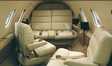 Premier 1 private jet interior