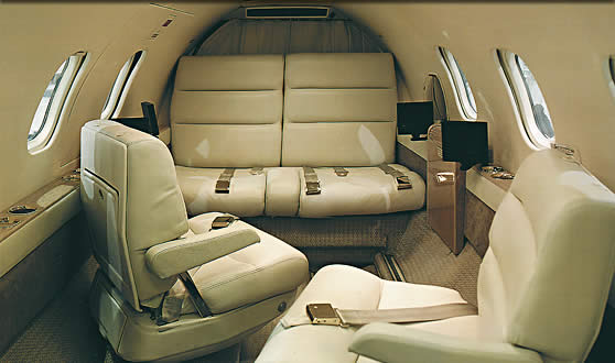 Premier 1 private jet interior