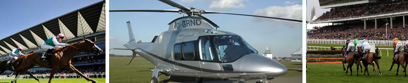 Helicopter hire horse racing