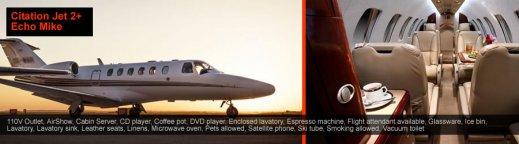 Private jet Citation 2 Mykonos
