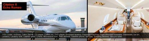 Private jet Citation X Mykonos
