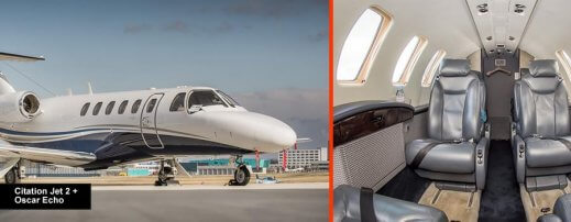 Cessna Citation Jet 2+ for up to 8 passengers