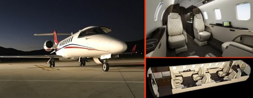 LearJet 75 charter Moscow
