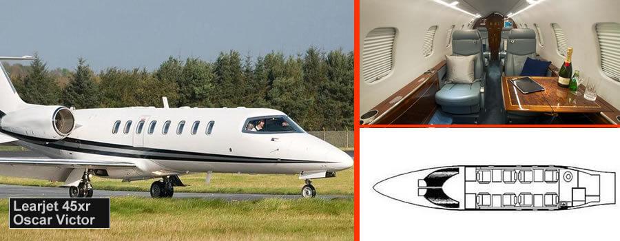 Learjet 45xr private jet