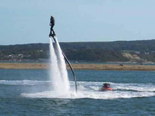 Fly boarding and Jet Ski