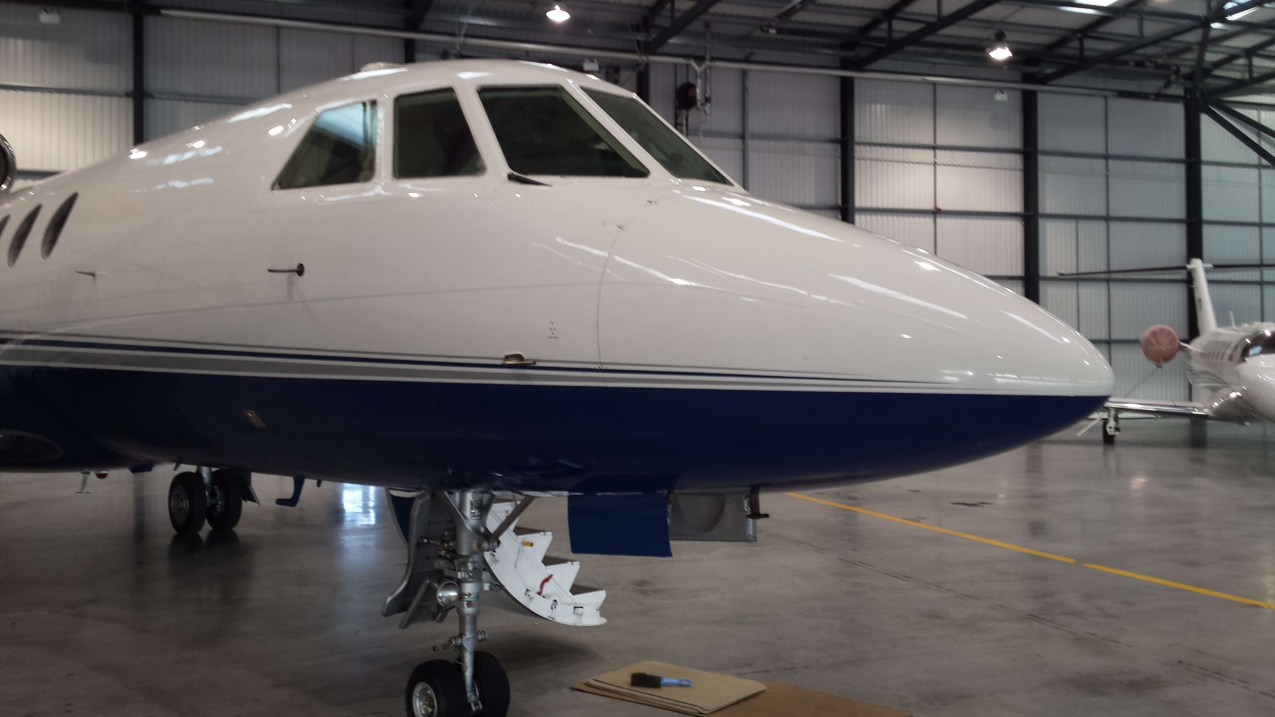 Cockpit of the Biggin Hi;l; based Falcon 50 private jet