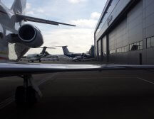 Falcon 900 at London Biggin Hill