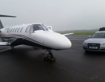 Citation Jet 2 on the apron ready to fly from London Biggin HILL