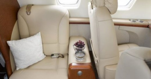 Citation Jet interior