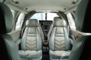 Prop plane interior