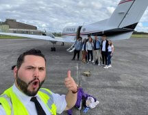 Social distancing private jet