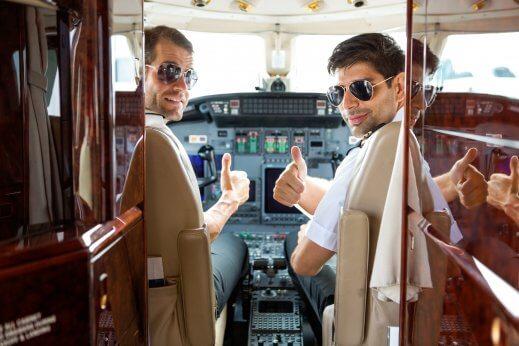 Faro private jet crew