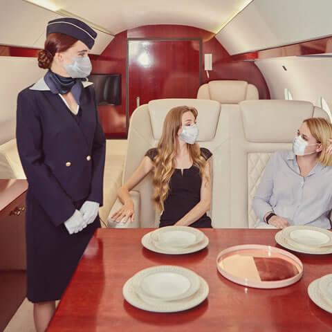 COVID safe private jet Dubai